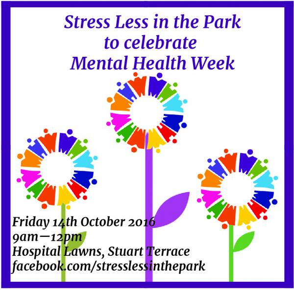 Stress Less In The Park Celebrating Mental Health Week 2016