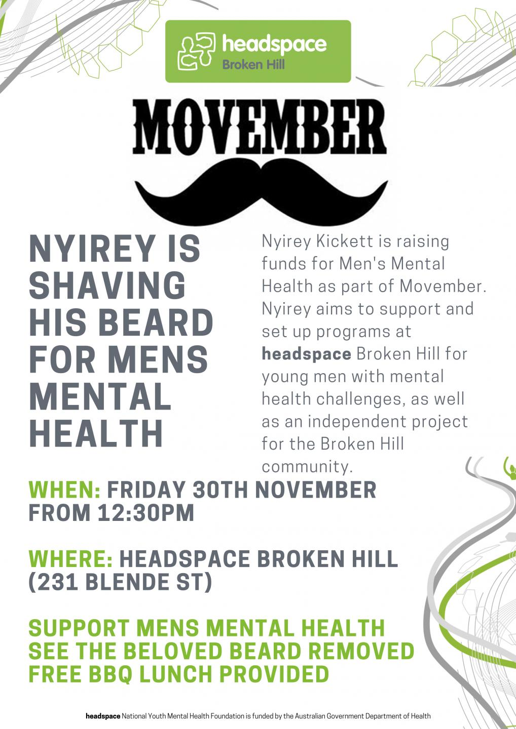 Movember headspace Broken Hill