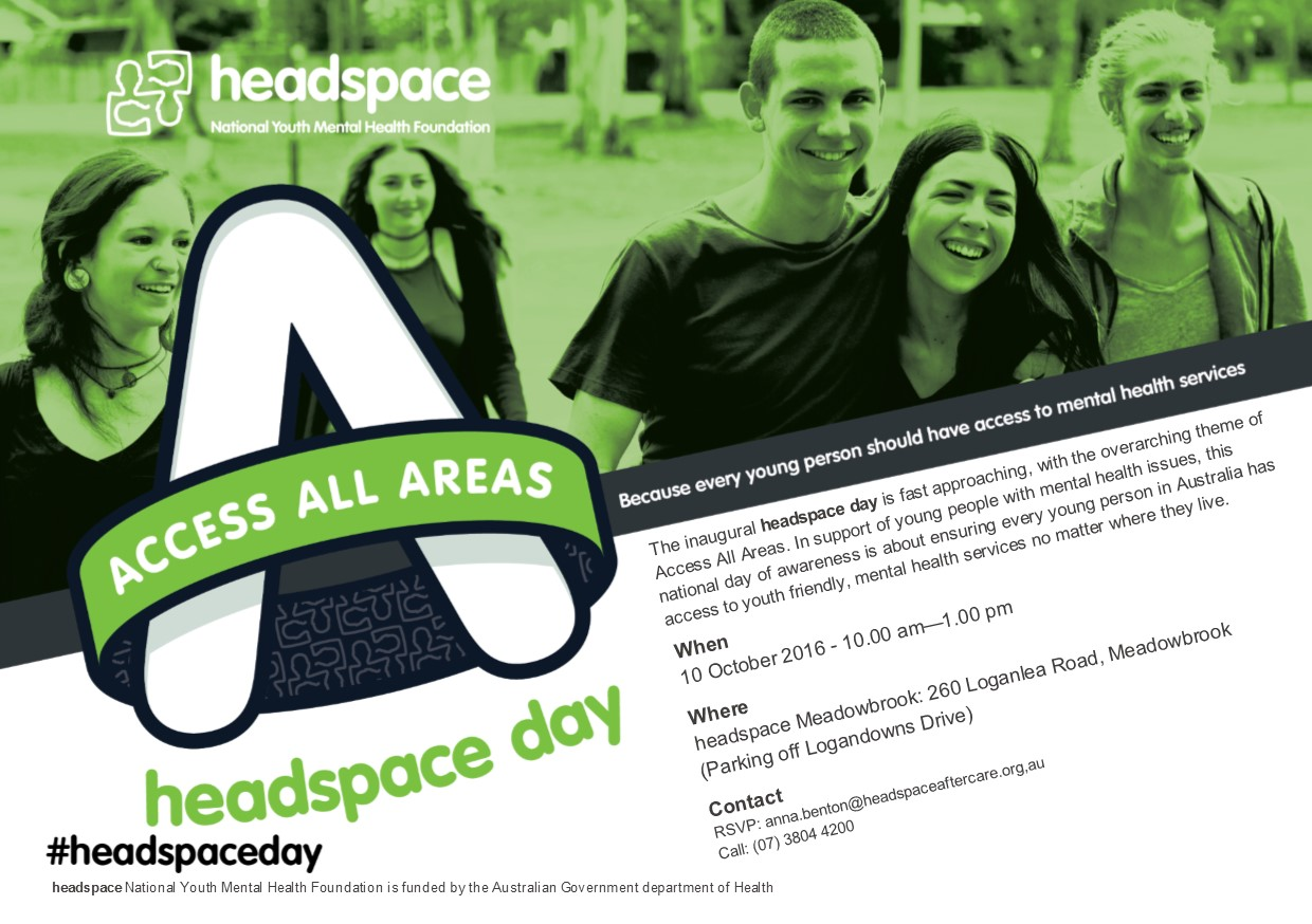 We look forward to seeing you! headspace, National Youth Mental Health  Foundation