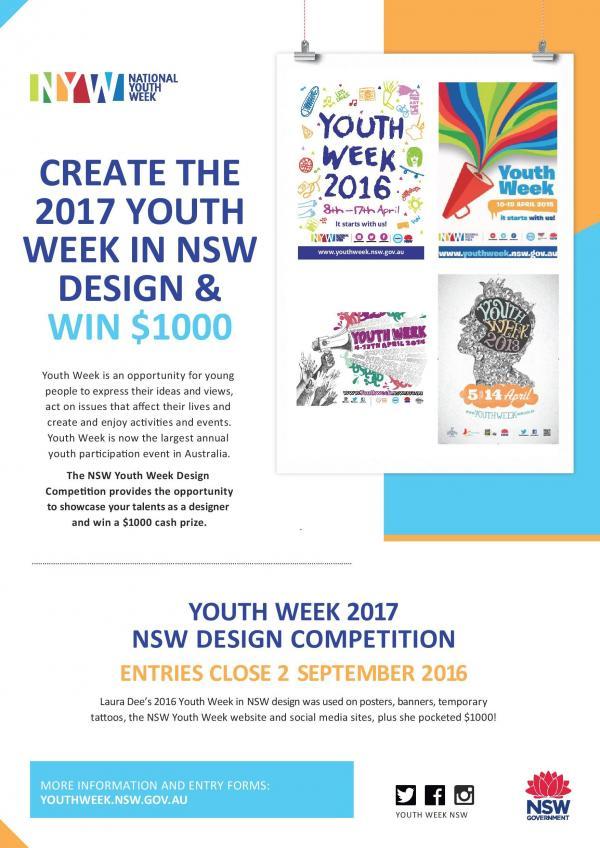 Create the 2017 Youth Week Design!