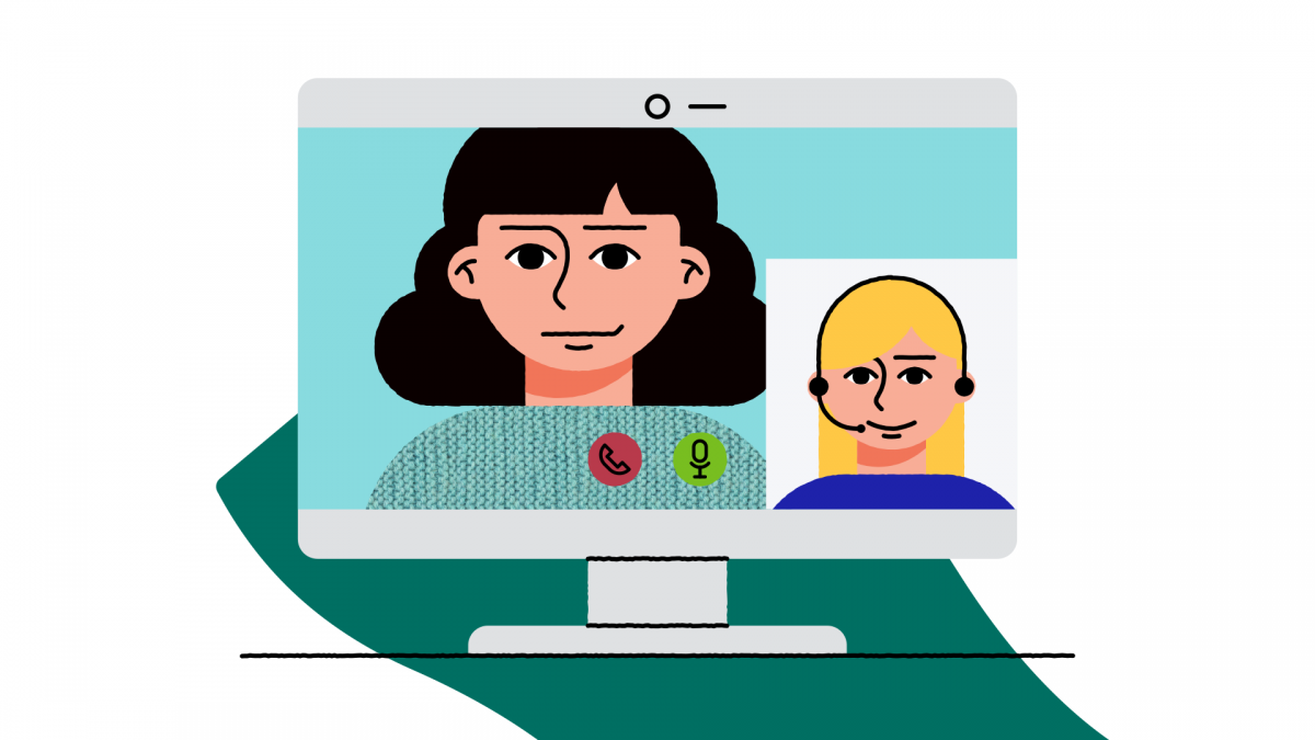 illustration video call